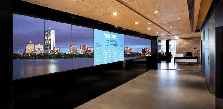Video Wall Hallway Installation