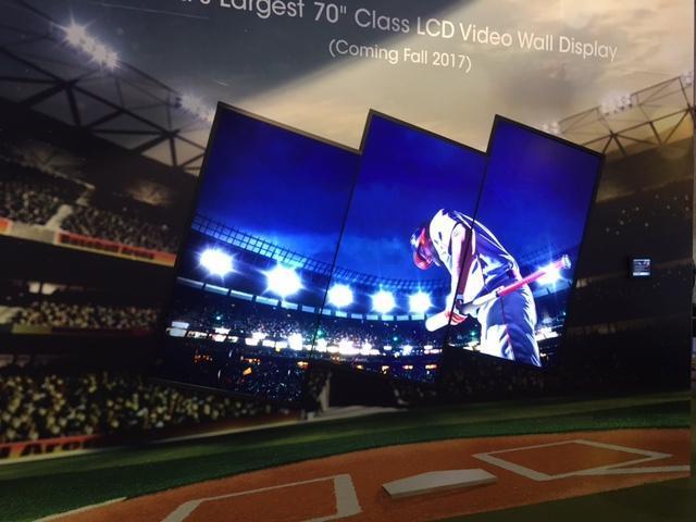 Modern Video Walls Baseball Closeup