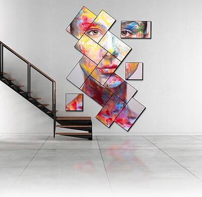 userful artistic mosaic-style room