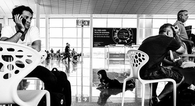 At Airport Waiting