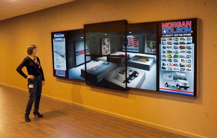 Mixed size video wall